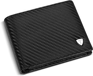 TEEHON® Portefeuille Homme Cuir Véritable Porte-Monnaie avec Blocage RFID/NFC 8 Porte Carte Crédit, 2 Compartiment à Bille...