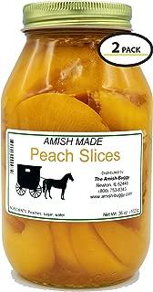 Amish Old Fashioned Sliced Peaches - Two - 32 Oz Jar