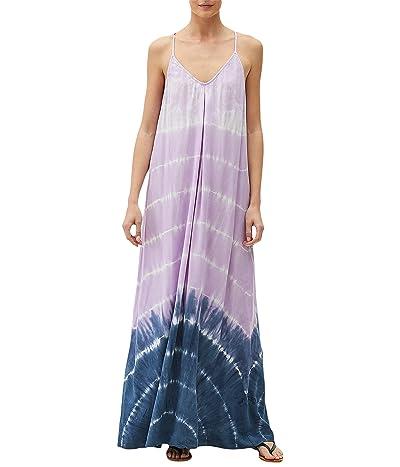 Michael Stars Gloria Wave Wash Modern Rayon Maxi Slip Dress