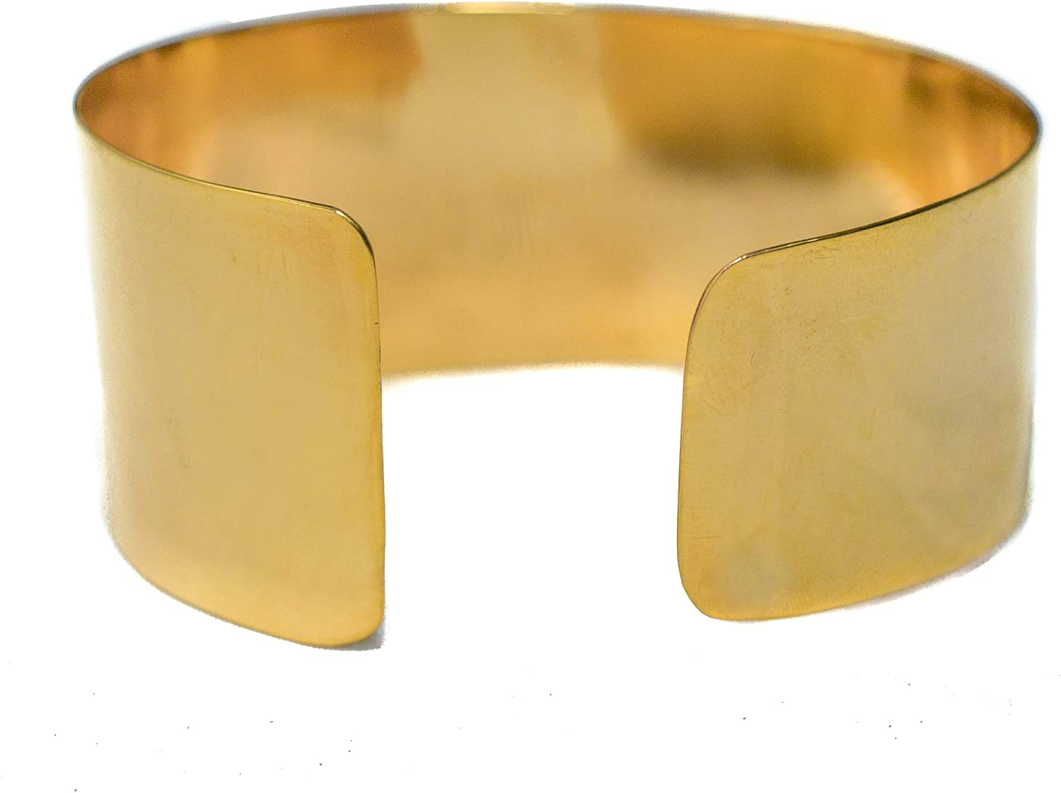 AVARCAS 101 Ethical Jewelry - 24K Gold Dipped Wide Cuff Bracelet for Women | Artisan-Made from Recycled Industrial offcuts | Resists Tarnishing|Up to 20x More 24kGold Than Other Necklaces +Free