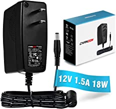 [UL Listed] Chanzon 12V 1.5A 18W AC DC Switching Power Supply Adapter (Input 100-240V, Output 12 Volt 1.5 Amp) Wall Wart Transformer Charger for DC12V CCTV Security Camera (6Ft Cord, 18 Watt Max)