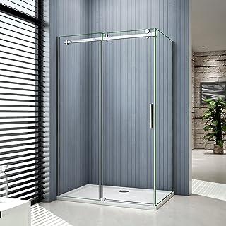 Cabine de douche 120x80 Porte de douche coulissante arrondie