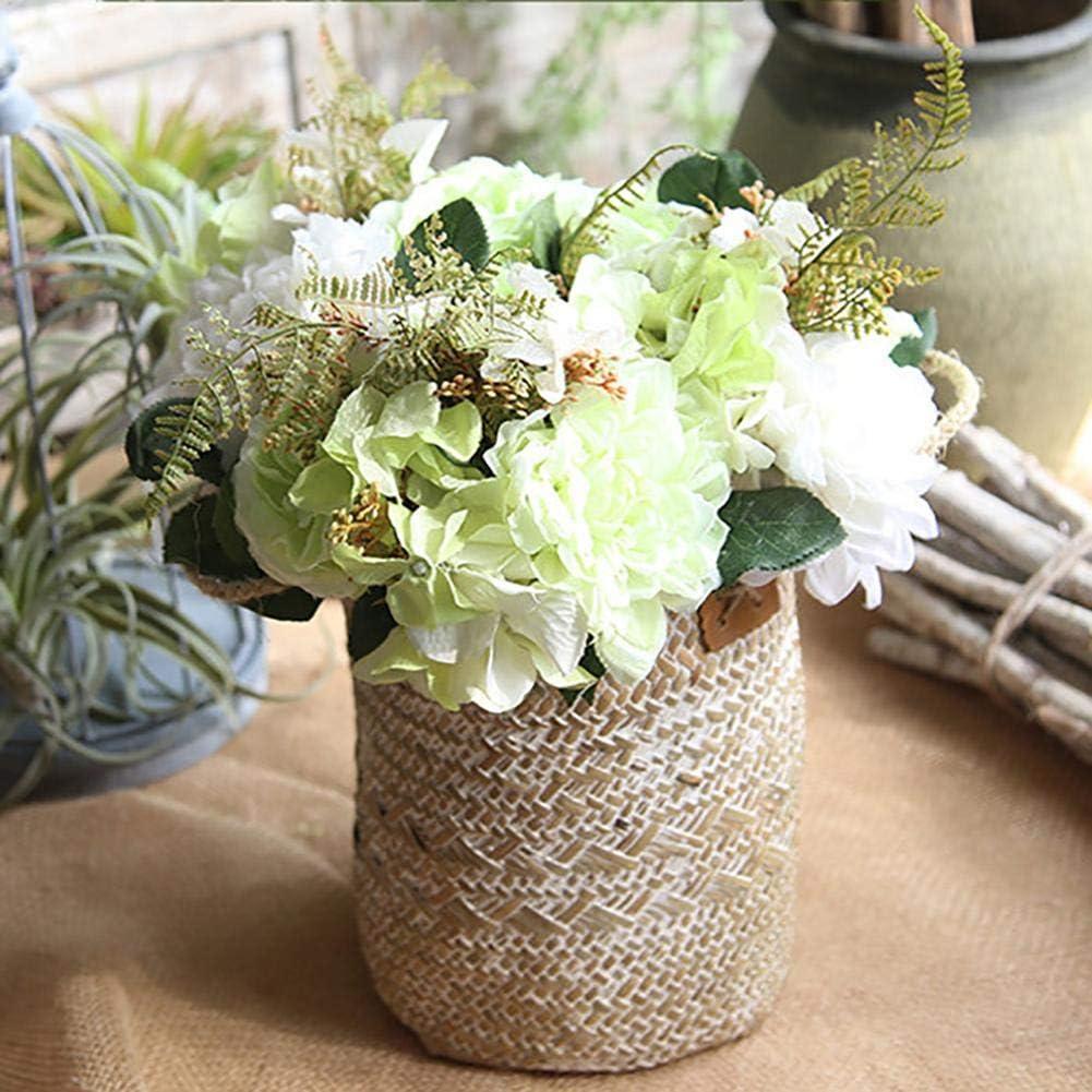 Liery Handgewebter Blumenkorb Garten Nordischer Stil Einfacher Aufbewahrungskorb F/ür Obst Gem/üse Lebensmittel Blumen