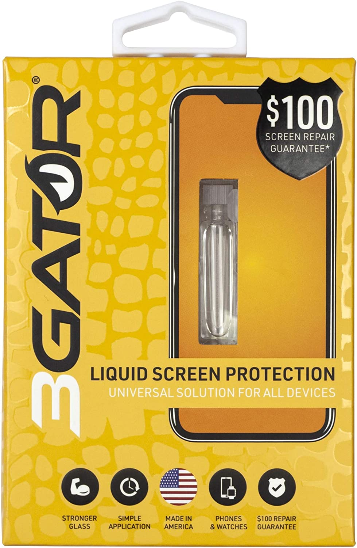 Super special Outstanding price 3GATOR Liquid Glass Screen Repair $100 Univ Protector