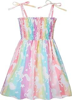 Toddler Baby Girls Summer Dress Cute Mermaid Dinosaur Halter Sundress 1-5 Years