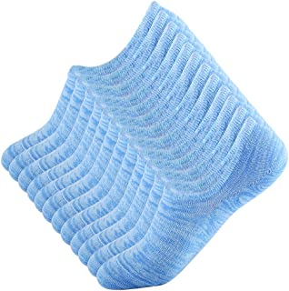 No Show Socks for Men and Women - 6 Pair of Low Cut with Silicone Invisible Anti-Skid Flat Boat Liners.
