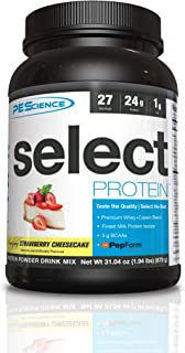 PEScience Select Low Carb Protein Powder, Strawberry Cheesecake, 27 Serving, Keto Friendly and Gluten Free
