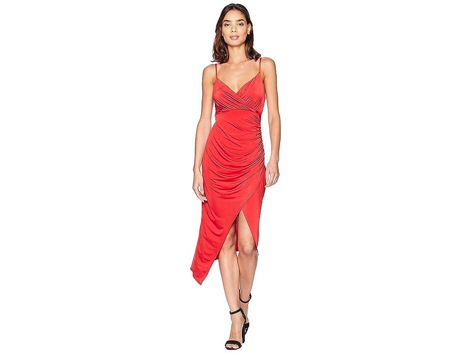 Bebe Surplus Cami Dress (Red) Women