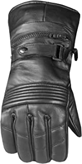 Men's Premium Leather Thermal Winter Waterproof Cover Motorcycle Gloves L