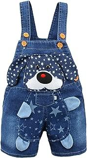 Kidscool Baby Summer Cotton Denim 3D Cartoon Star Dog Soft Short Overalls