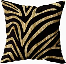 EMMTEEY Home Decor Throw Pillowcase for Sofa Cushion Cover,Zebra Decorative Square Accent Zippered and Double Sided Printing Pillow Case Covers 18X18Inch