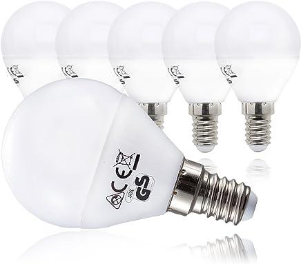 B.K.Licht LED Leuchtmittel | 5X E14 Lampen| 5 Watt 470lm | ersetzt Glühbirne 40W | warmweiss 3000K | Abstrahlwinkel 180°