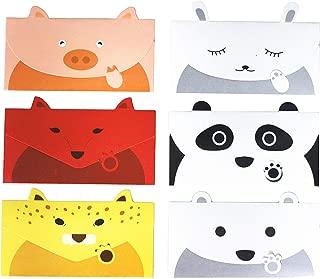 ZHU YU CHUN 36Pcs Animal Writing Stationery Paper, Cute Cartoon Letter Writing Paper Greeting Card