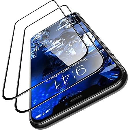 lphone Diamonds hard designed for apple iphone 11 screen protector iphone xr screen protector [10x military grade shockproof] [10s easy installation][eye protection] tempered glass film 6.1(PACK OF 1)by blackwik