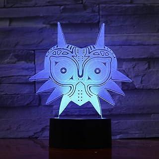 WoloShop Lampara LED The Legend of Zelda Majora's Mask Cambia Color USB Luz Nocturna