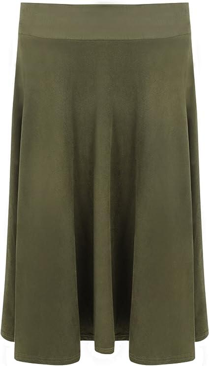 Jupes Femmes Femmes Longue Daim Regardez Genou Longueur /Étendue /Évas/ée Dames Jupe Tailles 42-56 WearAll