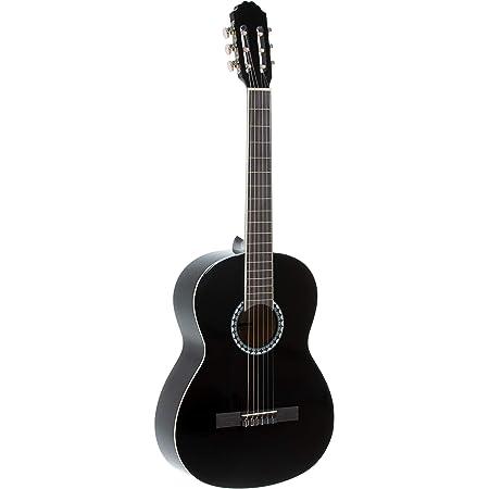 PURE GEWA Guitarra clásica Basic SET 4/4 Negro, incluye funda, afinador de pinza y dos púas