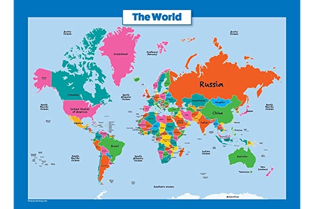 Best world maps for clroom | Amazon.com on