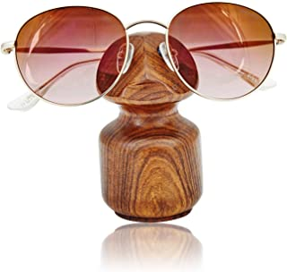Birthday Gifts Handcrafted Rosewood Reading Glasses Stand Spectacle Stand or Eye Glass Holder Wooden Tabeltop Display Stand 3.5 Inches Anniversary Housewarming Gifts For Men Women Him Her