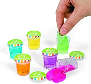 Fun Express Mini Clear Glitter Putty - Fun Birthday Party Favors for Kids (4 Dozen)
