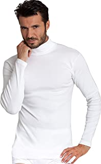 BASIC COTTON Free Spirit Premium Quality 100% Brushed/Fleece Cotton Men's Turtleneck Shirt. Made in Italy.