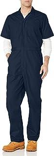 Amazon Essentials Stain & Wrinkle-Resistant Short-Sleeve Coverall Pantaloni, Blu (Dark Navy), (Taglia Produttore: X-Small-...