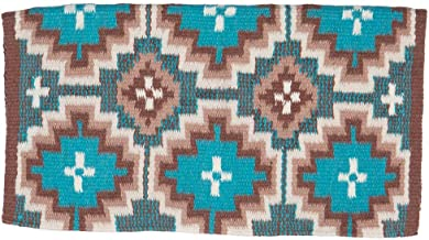 Nrs Mayatex Exclusive Hassayampa Navajo Blanket Teal/Camel/Cream 36X34