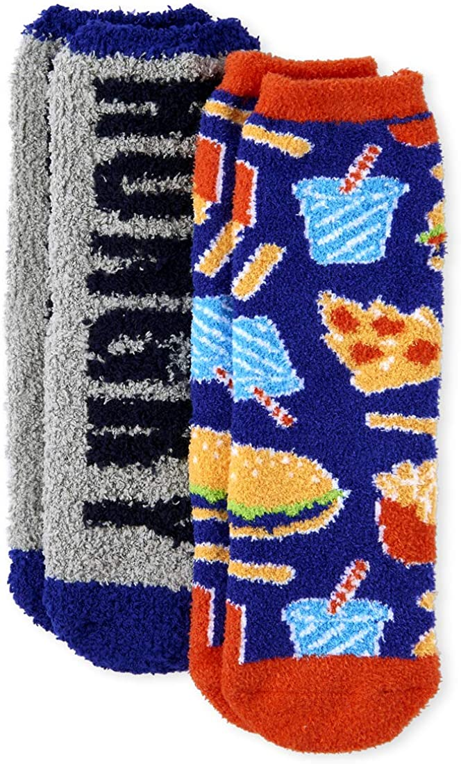 The Children's Place boys Food Cozy Socks, Pack of Two