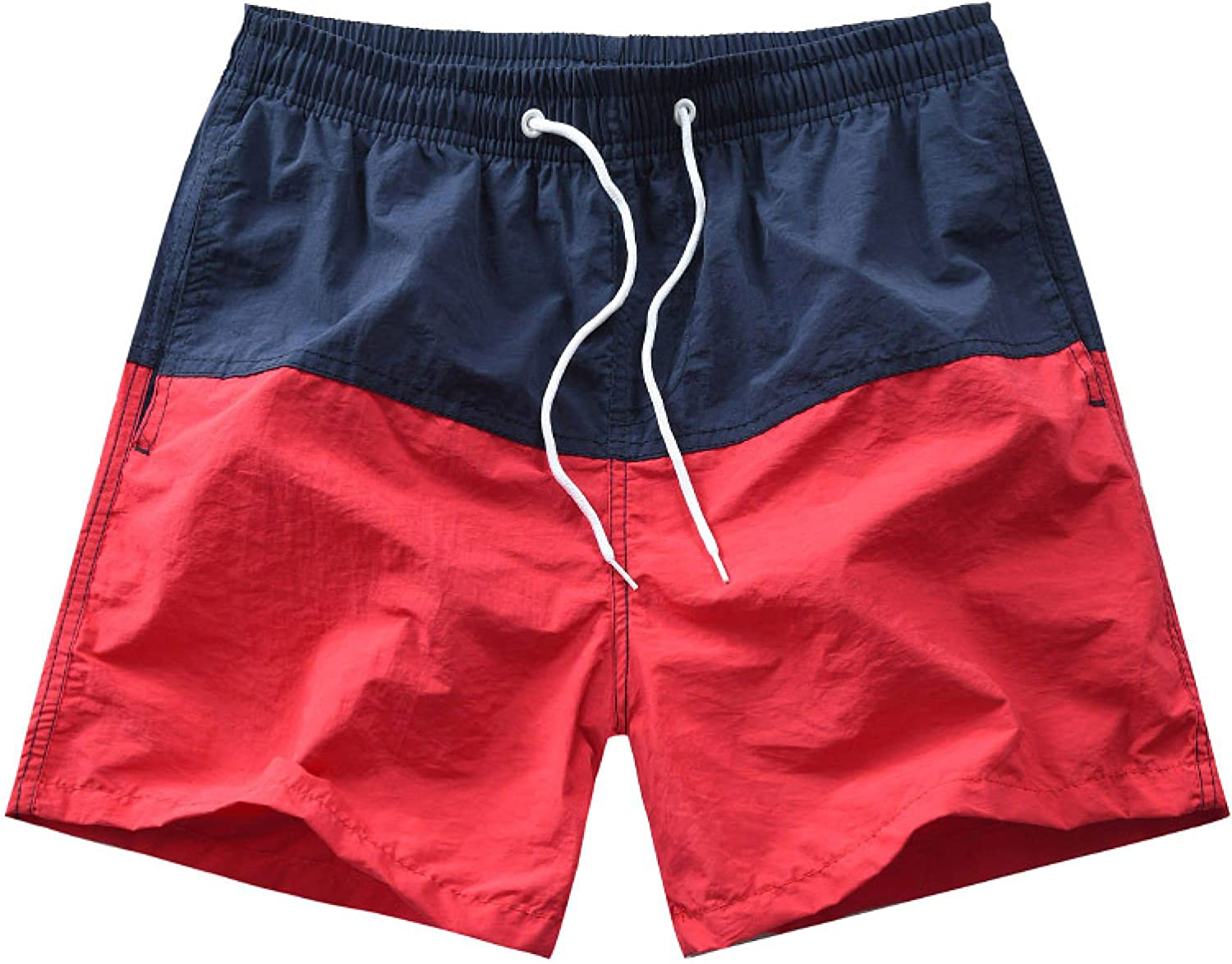 Katenyl Men's Relaxed Beach Shorts Fashion Patchwork Color Matching Streetwear Trend