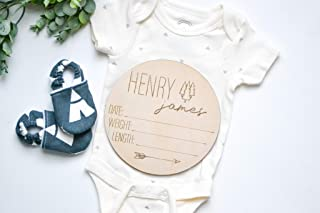 Birth Stats Baby Name Sign Wood Sign Newborn Hospital Photo Prop Gender Reveal Baby Photo Props Name Announcement New Baby Sign