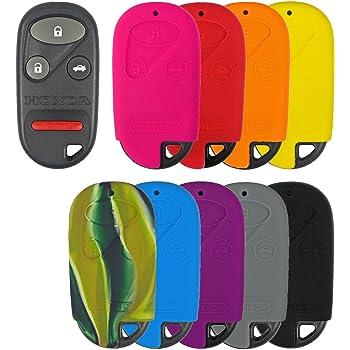 KeyGuardz Black Rubber Keyless Entry Remote Key Fob Skin Cover Protector LYSB00HVI1468-ELECTRNCS