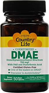 Country Life DMAE Caps - 350 mg - 50 Vegetarian Capsules