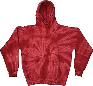 Colortone Tie Dye Hoodie 6-8 (SM) Spider Red