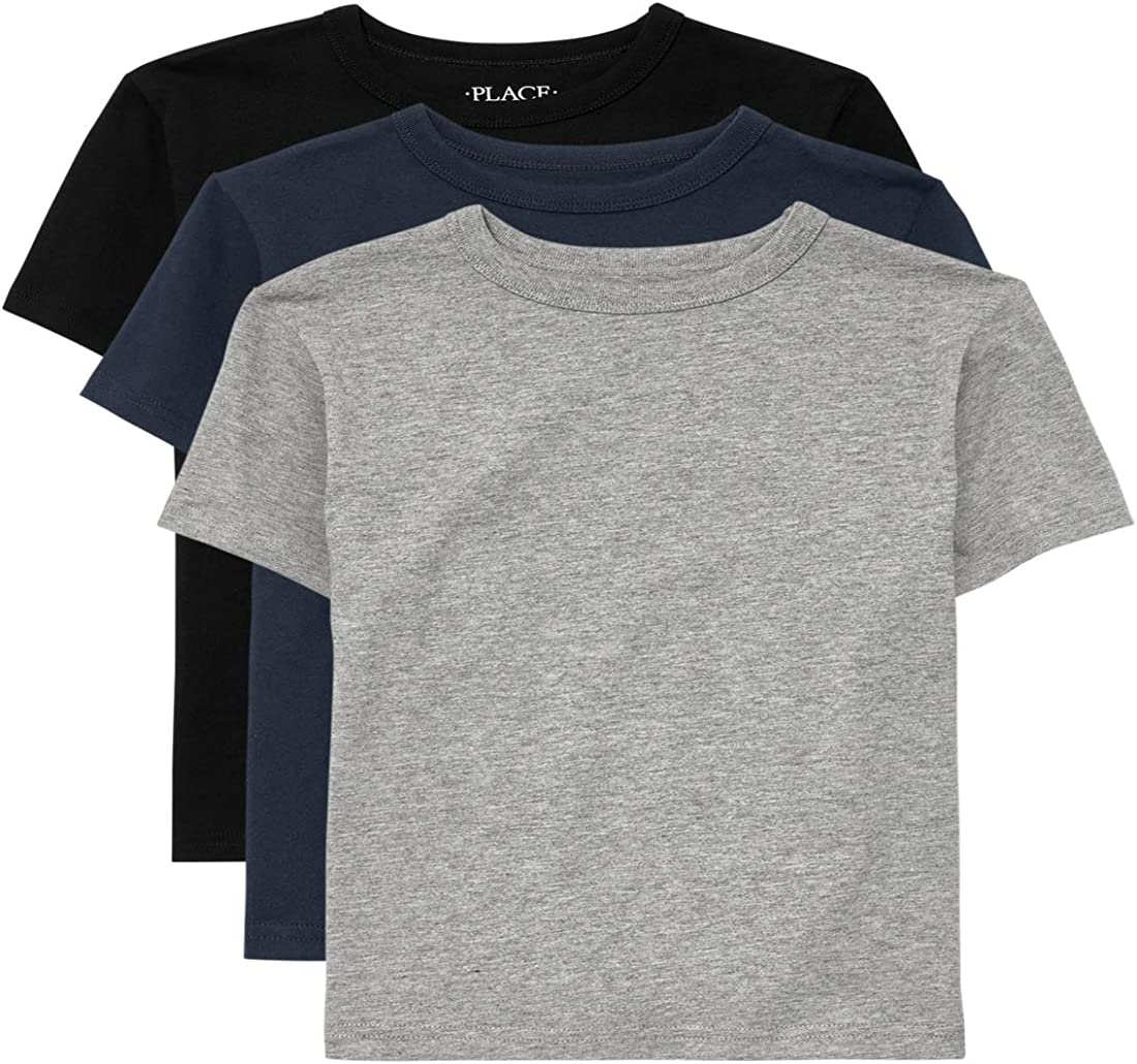 The Children's Place Boys' 3 Pack Short Sleeve Basic Layering T-Shirt