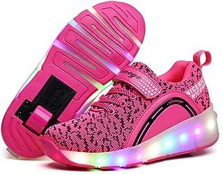 斯太勒 儿童暴走鞋男童单轮灯鞋有轮闪灯滑轮鞋女童鞋轱辘鞋溜冰鞋 DBL-123