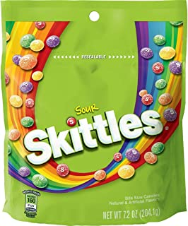 2 pk Bundle of Sour Skittles 7.2 oz each