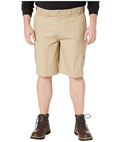 Dickies Big Tall 11 Cargo Work Active Waist Shorts Regular Fit (Desert Sand) Men