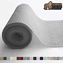 Gorilla Grip Original Drawer and Shelf Liner, Non Adhesive Roll, 12 Inch x 20 FT, Durable and Strong, for Drawers, Shelves, Cabinets, Storage, Kitchen and Desks, Light Gray