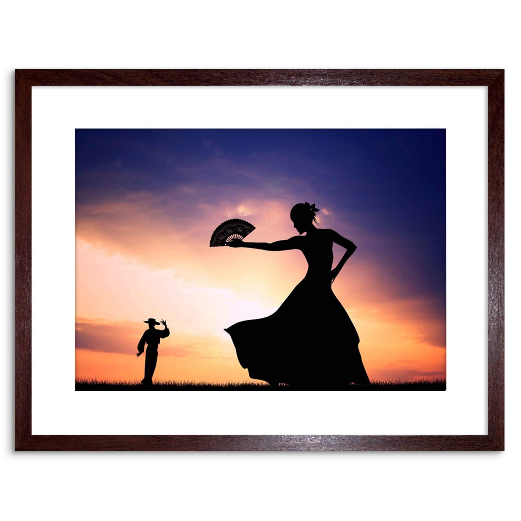 Amazon Com The Art Stop Photo Mock Up Silhouette Sunset Flamenco Dancing Framed Print F97x5339 Furniture Decor