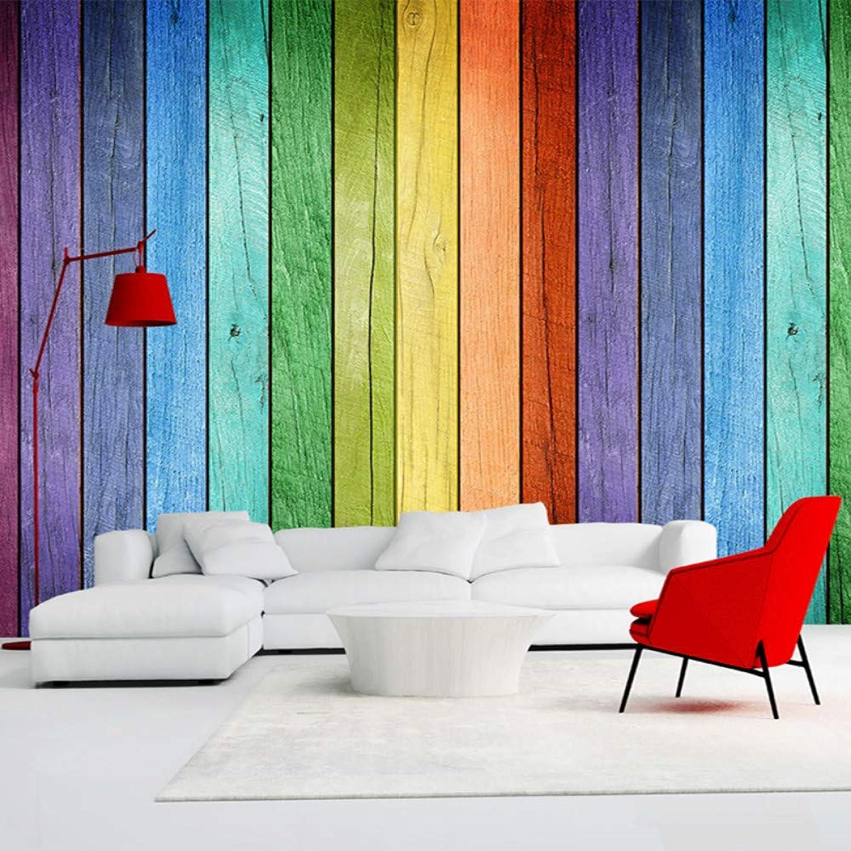 marca en liquidación de venta Mddjj Colorido Arco Iris Tablero De De De Color Interior Moderno Foto Fondos De Pantalla Personalizados Cualquier Tamao 3D Murales De Parojo Decoración Para El Hogar Etiqueta De Papel De Parojoe-200X140Cm  descuento