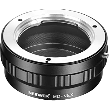 Neewer Lens Mount Adapter for Minolta MD MC Lens to Sony NEX E-Mount Camera A7 A7S A7SII A7R A7RII A7II A6000 A6300 A6500 NEX-3 NEX-5 NEX-5R NEX-6 NEX-7 NEX-VG10/20