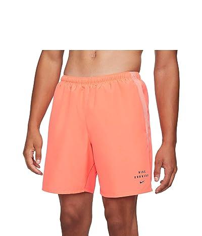 Nike Run Dvn Challenger Shorts 7 Brief Graphic (Bright Mango/Crimson Bliss/Black Reflective) Men