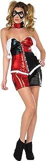 DC Comics Harley Quinn Deluxe Costume, Red/Black, Medium