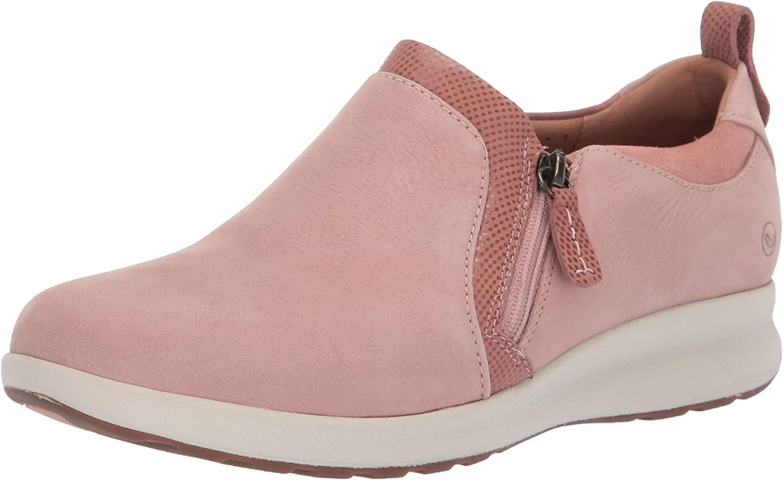 CLARKS Un Adorn Zip Women& 39;s Slip On 9 C D US pink