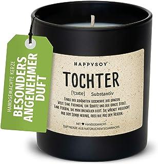 Happysoy Danke zeggen geurkaars in glas met spreuk van Soja - 100% natuurlijk handgemaakt duurzaam persoonlijk cadeau Best...