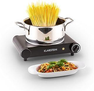 Klarstein Captain Cook - Plaque de cuisson céramique (1200W, chauffe rapide, jusqu'à 500°c) - noir