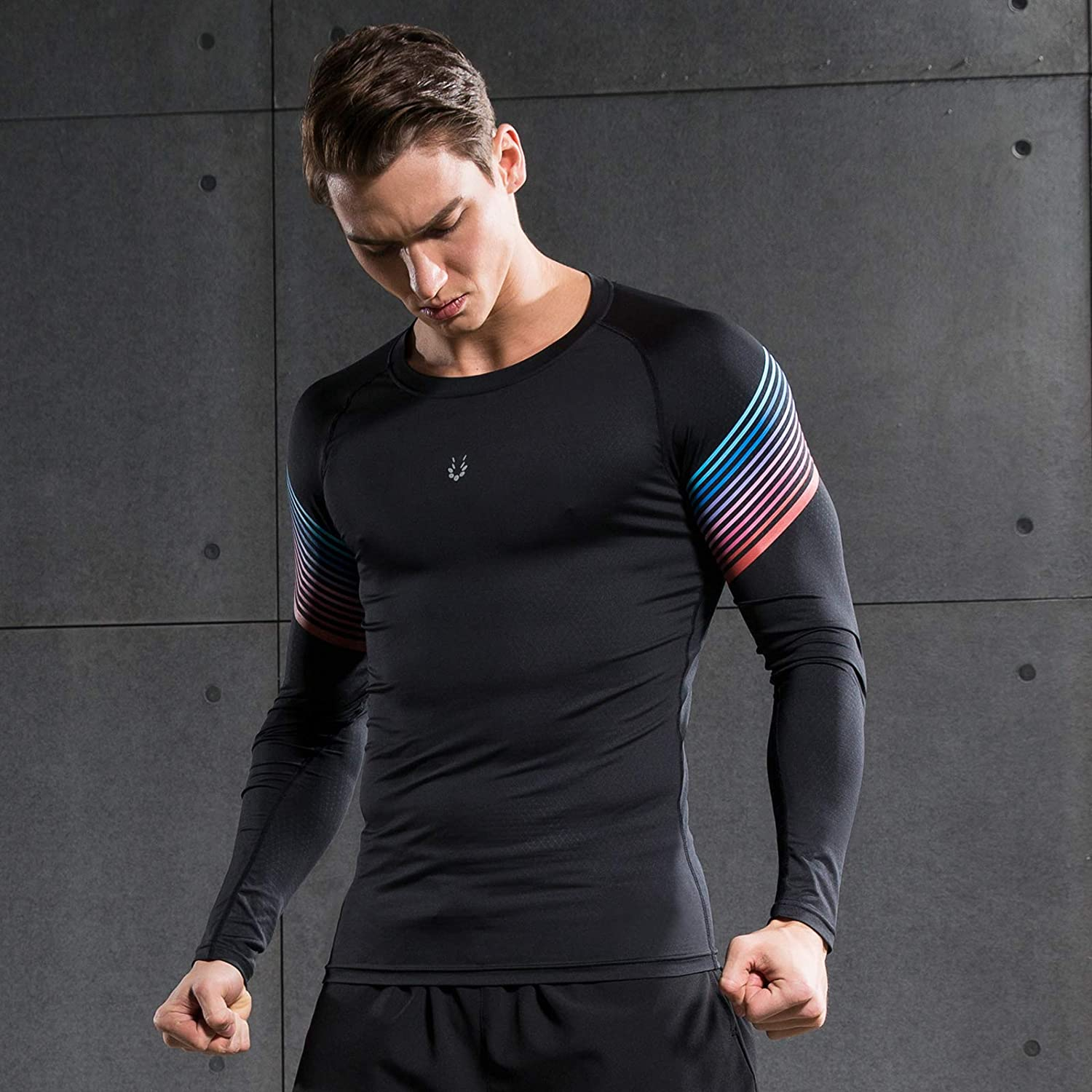 Mudere 1 or 2 Pack Men's Compression Tops Long Sleeve Cool Dry Underwear Shirts Athletic Running Workout T-Shirt Baselayer at  Men's Clothing store