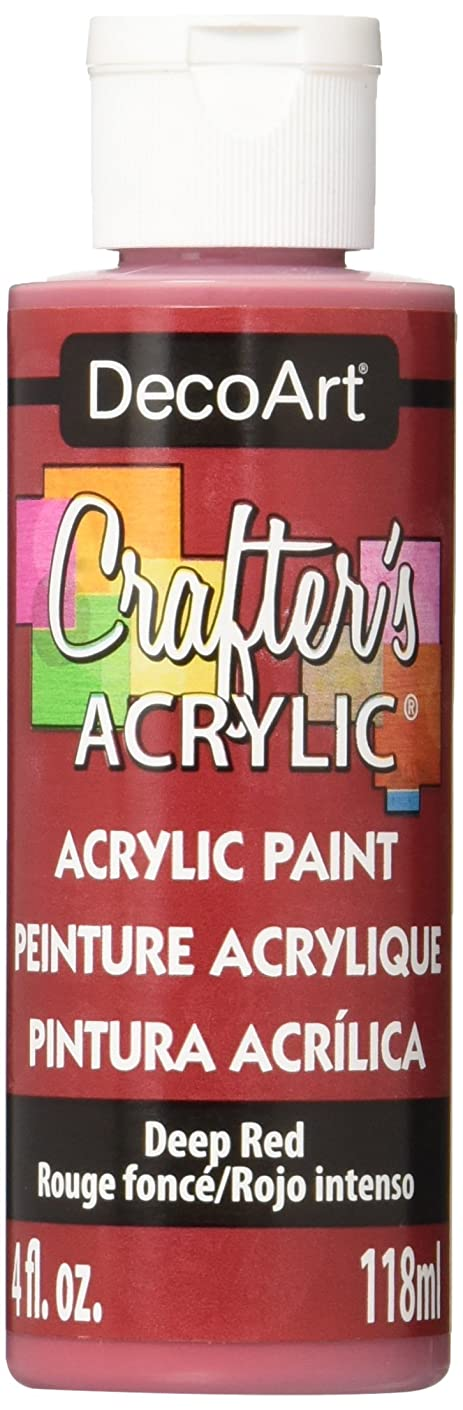 DecoArt Crafter's Acrylic Paint, 4-Ounce, Deep Red (DCA21-10)