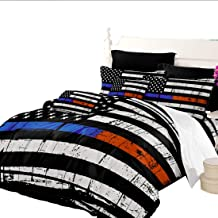 Oliven Quilt Cover Queen Size American Flag Printed Duvet Cover Queen 3 PCS White Black Blue Red Bedding Set Independence Day Home Decor