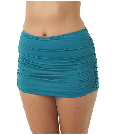 Jantzen Solids Shirred Skirted Bottoms (Ocean Depth) Women
